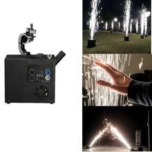 Black Stage Fountain Cold Spark Machine Flame Effect DMX Sparkler Fireworks Wedding LED Light