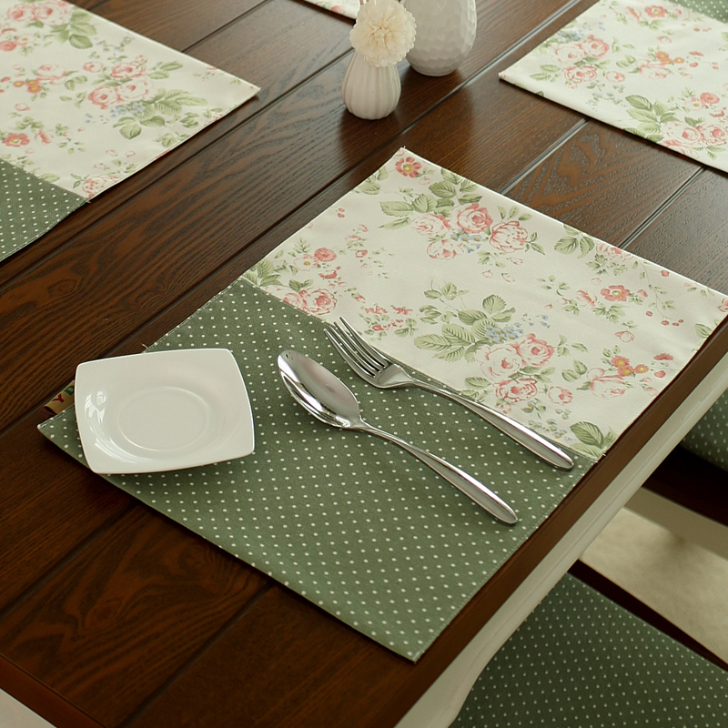 Free Shipping French Rustic Dot Flower Patchwork Dining