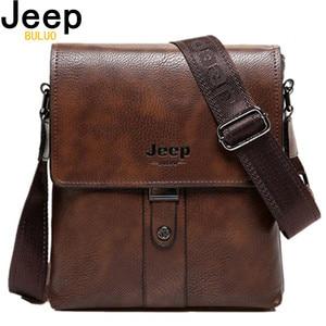 Image 1 - JEEP buuluo marka męska torby skóra Split moda mężczyzna Messenger torby mężczyzna dorywczo Crossbody na ramię torba na iPad Mini klasyczne