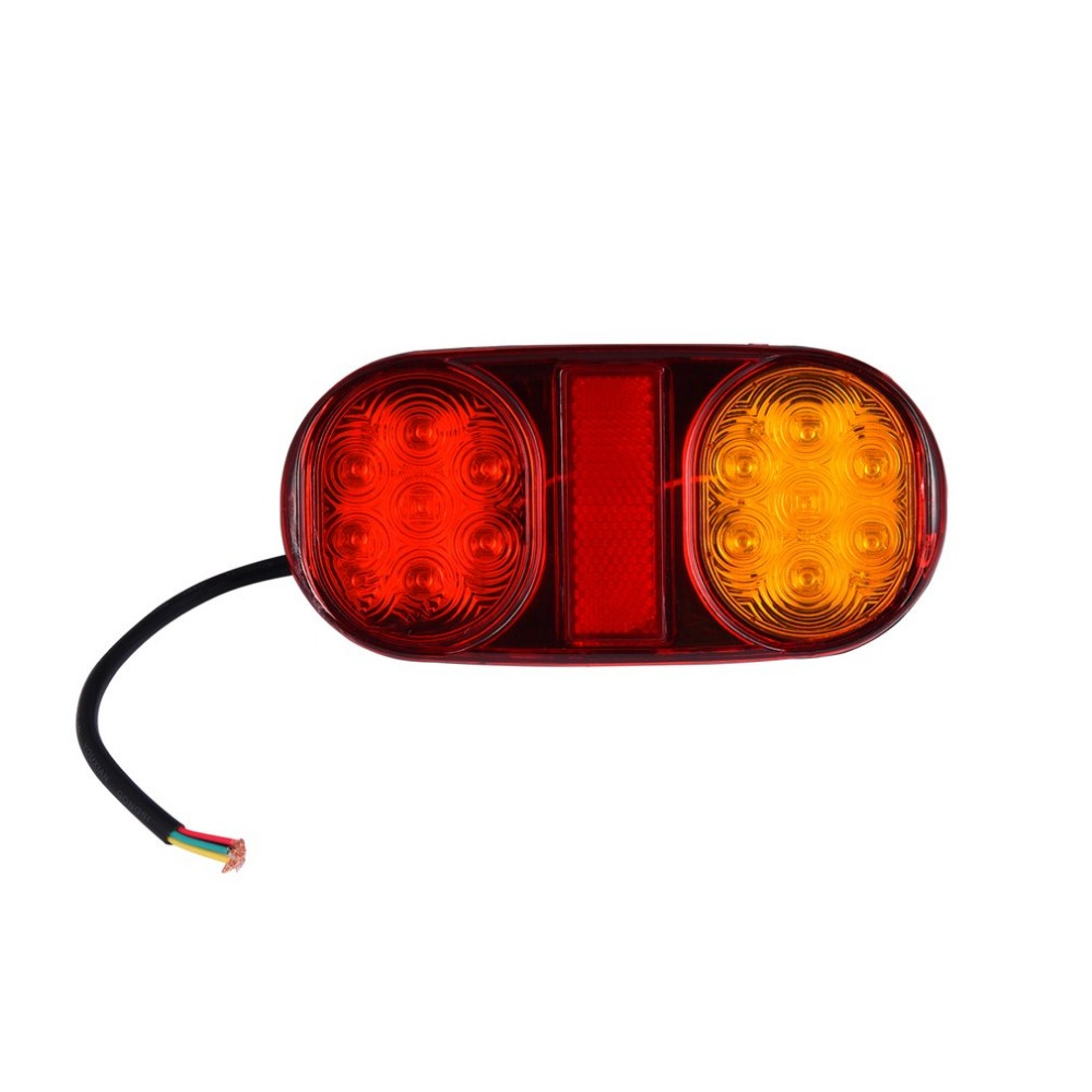 1 PCS 18 LEDs DC12V Car Rear Tail Light Warning Lamps Trailer Rear Parts For Truck Trailer Electric Vehicle Tail Lamp Hot