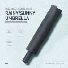 Складной зонт из алюминиевого сплава, Практичный Водонепроницаемый зонт для защиты от солнца, дождливый и Солнечный зонт для путешествий