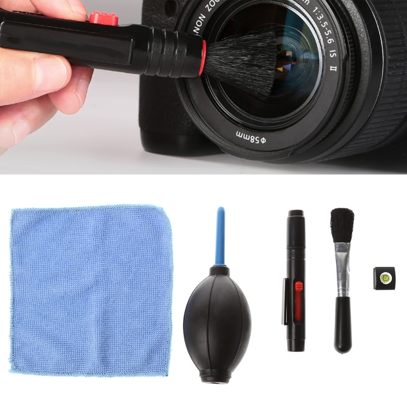 OOTDTY 5 In 1 Camera Phone Computer Digital Products Screen Care Cleaning Partner Set with Lens Dust Blower Brush Cloth Lenspen