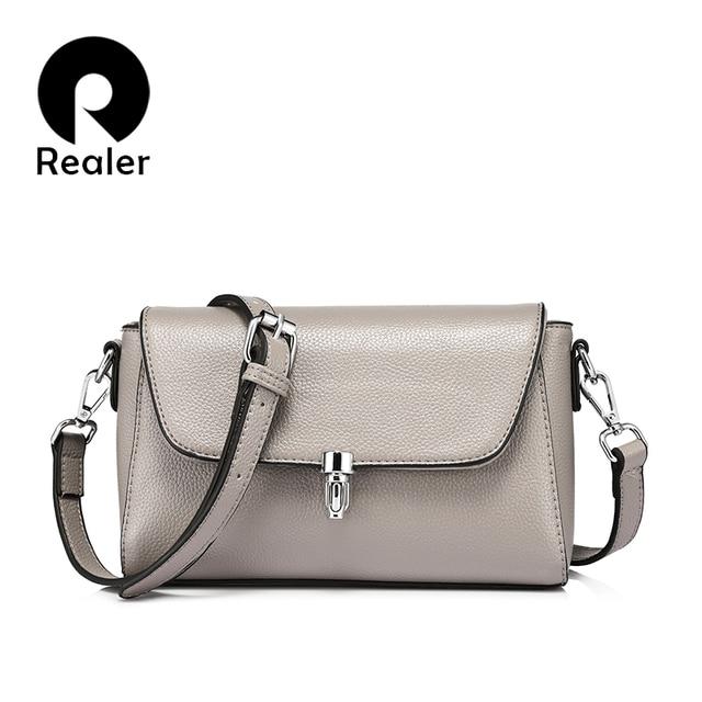 Realer Известный модный бренд, Новая модная женская сумка мессенджер, женская вместительная кроссбоди сумка, Цвет: светло-голубой/серый/черный