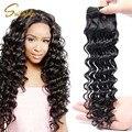 Top 7a rainha produtos para o cabelo peruano onda profunda virgem cabelo 3 bundles 100 g/pçs preuvian virgem do cabelo encaracolado profundo não transformados tecer