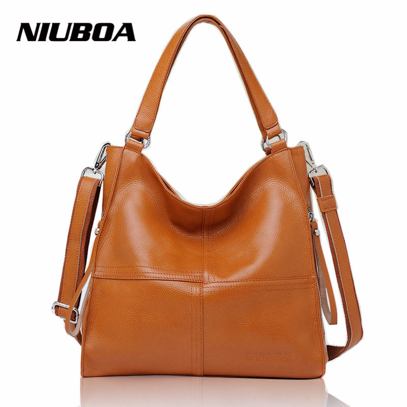 100% Genuine Leather Handbags Women Fashion Design High Quality Real Leather Shoulder Bag Ladies patchwork Office Messenger Bags