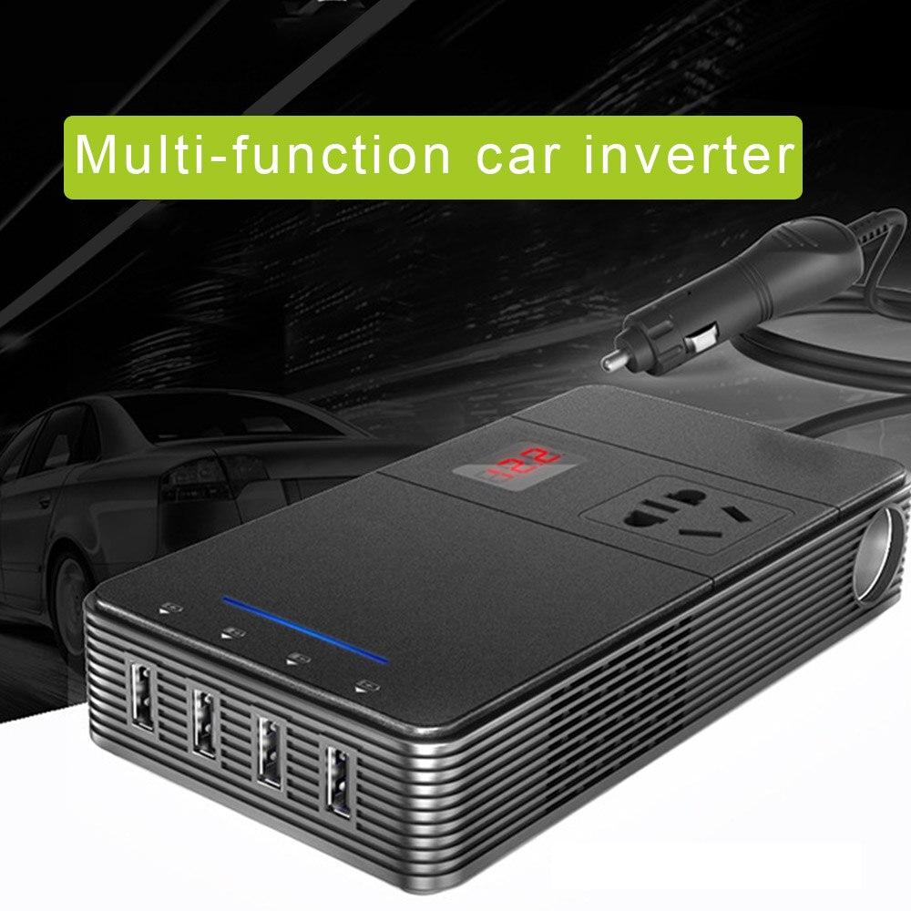 DC 12 V à AC 220 V onduleur de voiture véhicule tension USB adaptateur inverseur de puissance convertisseur de voyage de voiture onduleurs avec Ion négatif