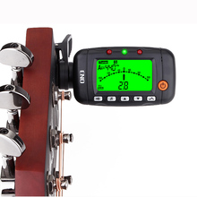 ENO Guitar Tuner Metronome Tone Generator 3 In 1 Electronic Tuner For Guitar Ukulele Bass Violin Portable Clip Tuner Accessories korg tm 50 combo tuner metronome black and white available can be used for wind guitar ukulele and piano keyboard instruments