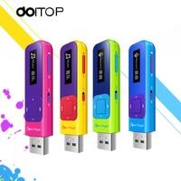DOITOP Q1 MP3 Lossless Mini Radio MP3 Player FM Recording Function 8GB Sport TF 0.91inch TFT Screen USB Flash MP3 Music Player