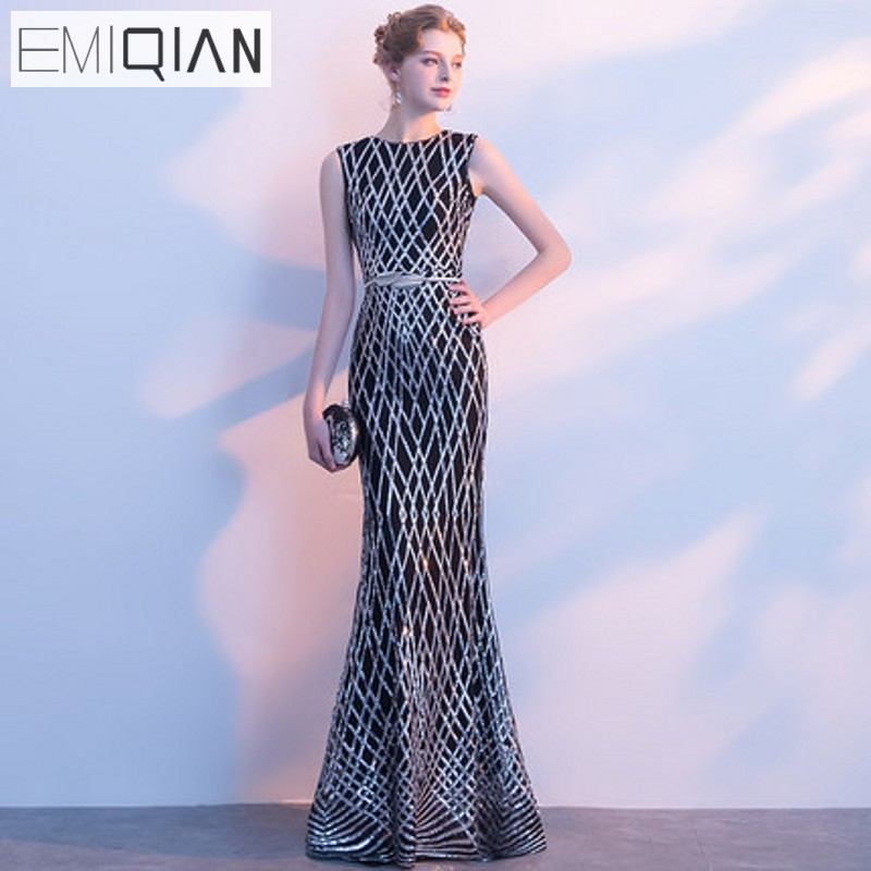 Popular Designer Sleeveless Mermaid Long Evening Dresses Formal Prom Party Dress robe de soiree