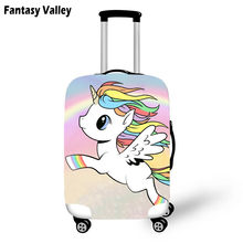 Rainbow Cloud Unicorn Travel Luggage Protective Cover Women Cute bagages Cover Girls Cartoon Unicorn Suitcase Travel Accessories(China)
