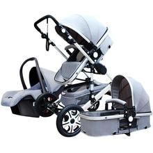 Підвіска Тінь Легка складана Дитяча коляска Коляска Pushchair, Lightweight Високий ландшафт Baby Carriage, розкішні коляски, патрон