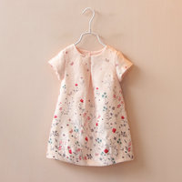 Spring Section Of Children S Clothing Factory A New Girl Butterfly Flower Pink Dress Children S