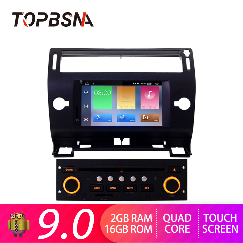 TOPBSNA Car DVD Player For Citroen C4 Quatre Triumph 2004 2012 GPS navigation auto multimedia tape recorder headunit Audio WIFI