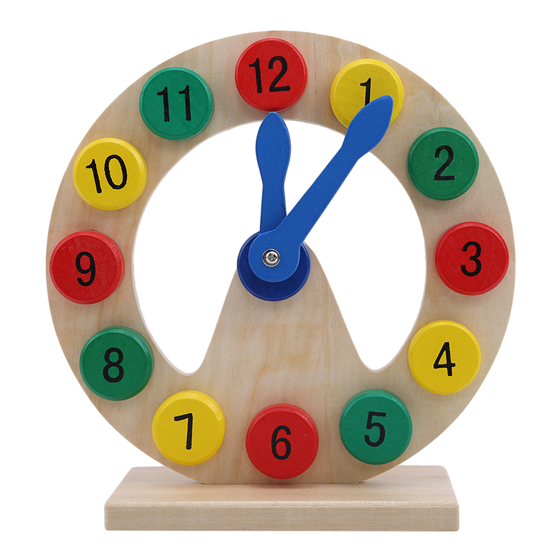 2019 Classic Hot Koop Houten Digitale Klok Speelgoed Model Bouwstenen Massief Hout Kleuraanpassing Baby Leren Educatief Speelgoed