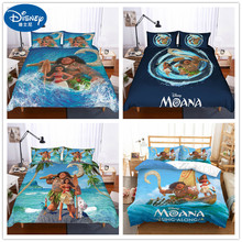 Disney Moana Bedding Set Duvet Cover PillowCase Single Twin King Size Bedroom Decoration Cartoon boy Girls Children Bed Gifts