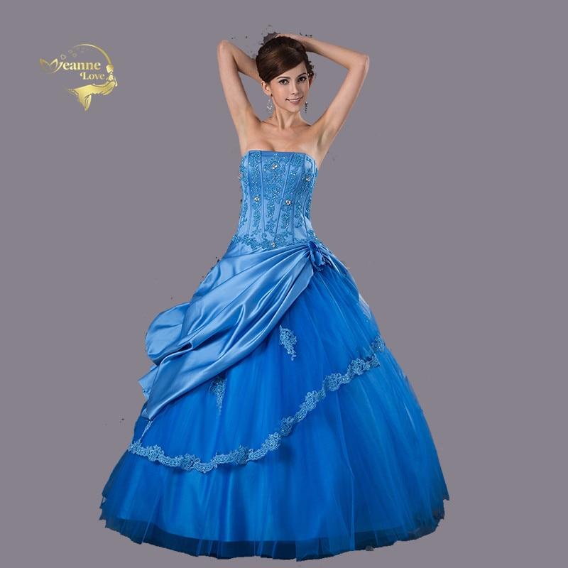 Robes bleu Quinceanera 2019 robe De bal robes De remise des diplômes robes d'occasion spéciale robes De 15 Anos Vestido Debutante Q4511