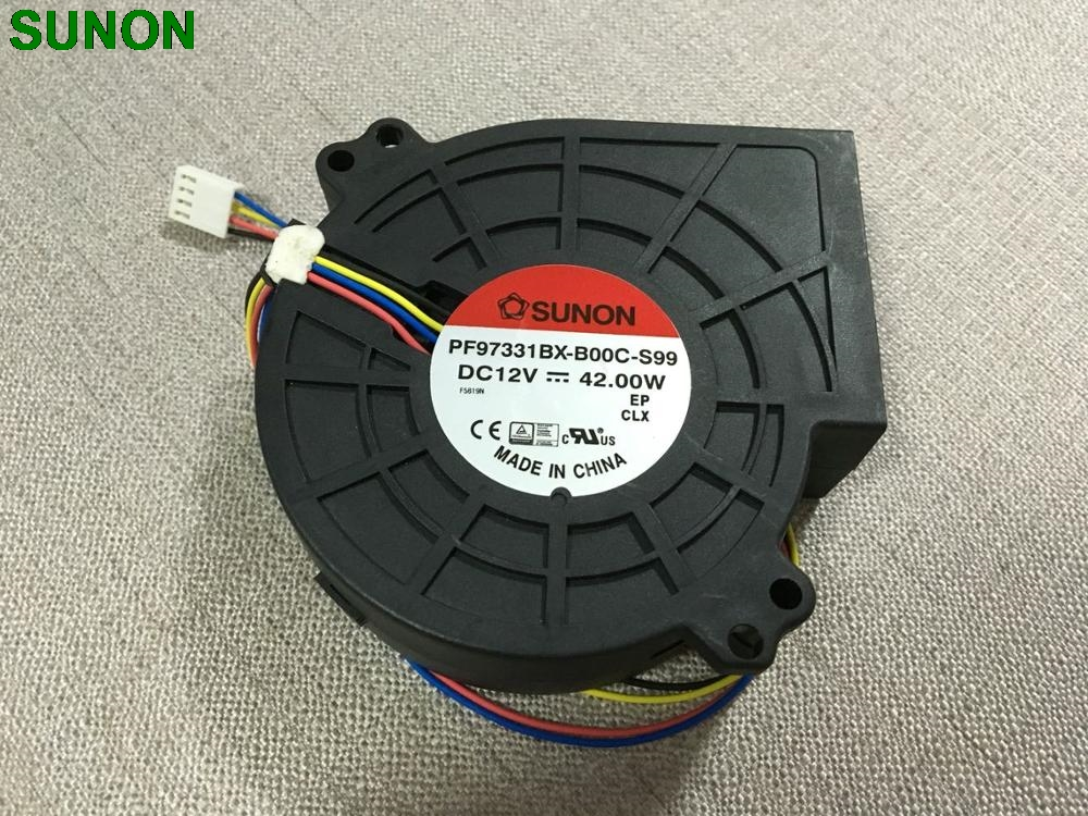 Original SUNON PF97331BX-B00C-S99 9733 blower super large air 12V 3.5A cooling fan large air blower