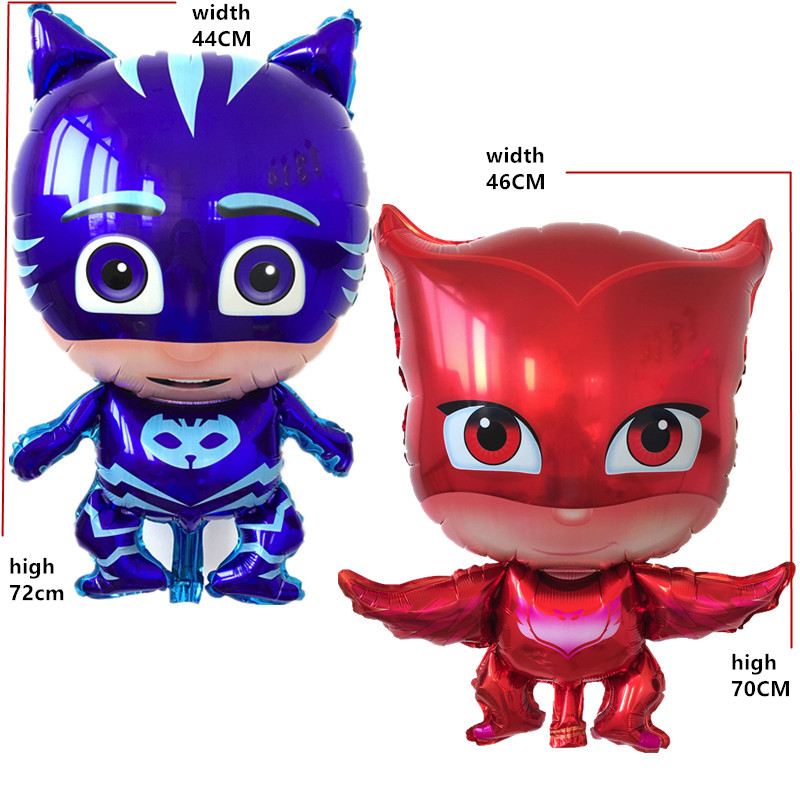 1pcs Free shipping PJ MASKS Balloons foil balloons cartoon character superman ba