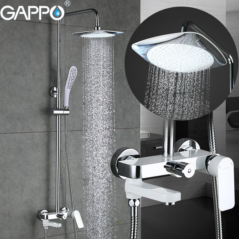 GAPPO bathtub faucet bathtub mixer bathroom shower faucet wall mounted brass bath shower faucet mixer tap
