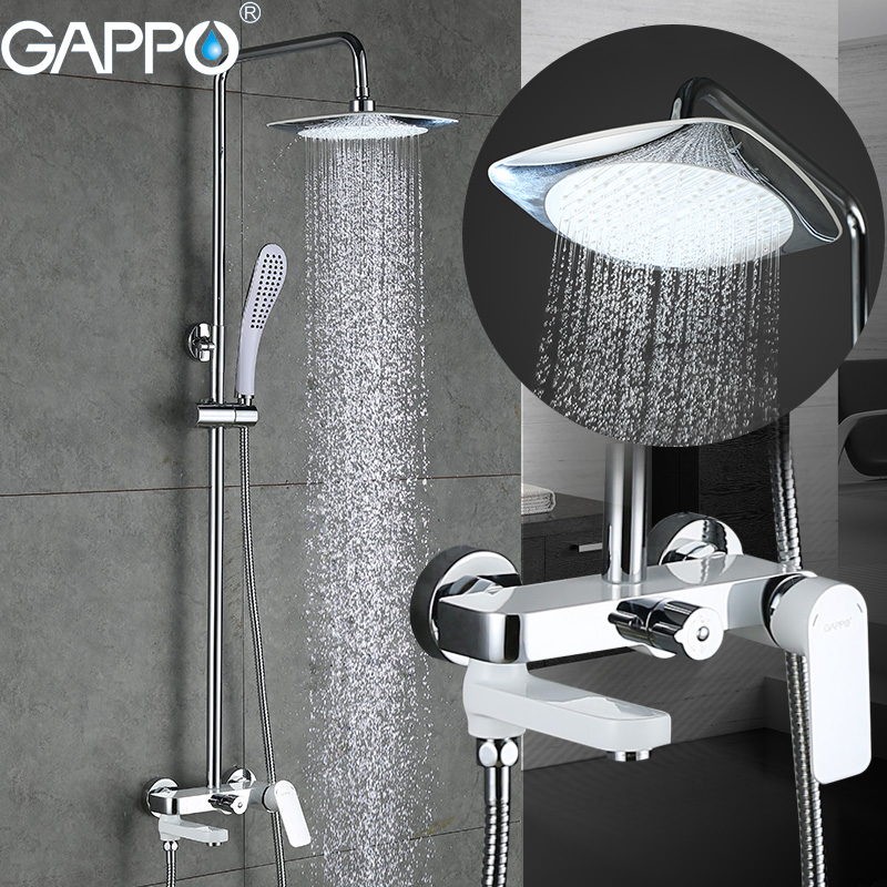 GAPPO bathtub faucet bathtub mixer bathroom shower faucet wall mounted brass bath shower faucet mixer tap waterfall shower tap ledeme bathtub faucet modern style bath faucet in wall waterfall mixer tap bathtub crane bathroom shower faucet set l2619