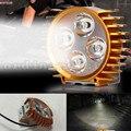 Super Brillante 12 W 4 LED Bicicleta Eléctrica Motocicleta Faro de Trabajo Cabeza de la Lámpara Del Punto de Luz de Niebla Del Faro de Conducción Nocturna de Seguridad