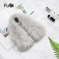 Pudi Real Fox Fur Scarf Headband Scarves Neck Warmer natural fox fur Wrap Cape Shawl Poncho snood SF780