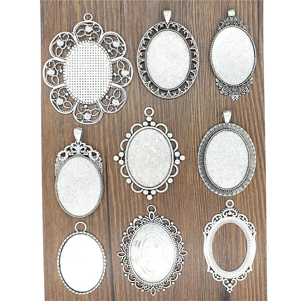 WYSIWYG 3 Pairs Drop Earrings Earrings for Girls Infinite Sign Single Side Inner Size 13x18mm Oval with Earring Backs Stopper