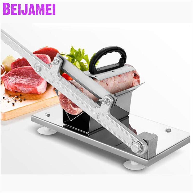 BEIJAMEI meat cutting equipment V shape stainless steel frozen beef meat slicer/manual frozen mutton rolls slicerBEIJAMEI meat cutting equipment V shape stainless steel frozen beef meat slicer/manual frozen mutton rolls slicer