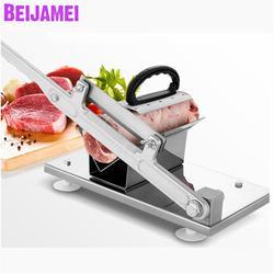 BEIJAMEI urządzenia do cięcia mięsa w kształcie litery V ze stali nierdzewnej mrożonej wołowiny krajalnica do mięsa/instrukcja mrożonej baraniny rolki krajalnica|Roboty kuchenne|   -