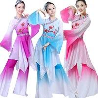 National Chinese Yangko Dancewear Costume Women Fan Dancing Long Sleeve Women Dancer Classic Stage wear Dancing Clothes Outfits