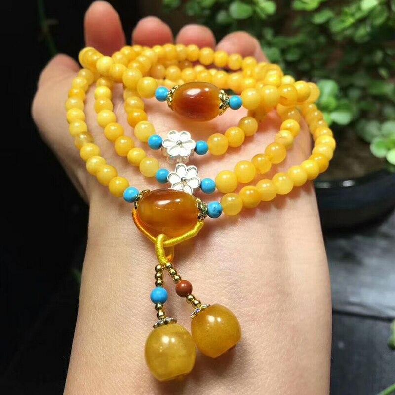 Оптовая продажа JoursNeige желтый натуральная руда браслеты из камней бусины с подвеска в форме шарика Ручной струны женский подарочный Шарм браслет ювелирные изделия - 5