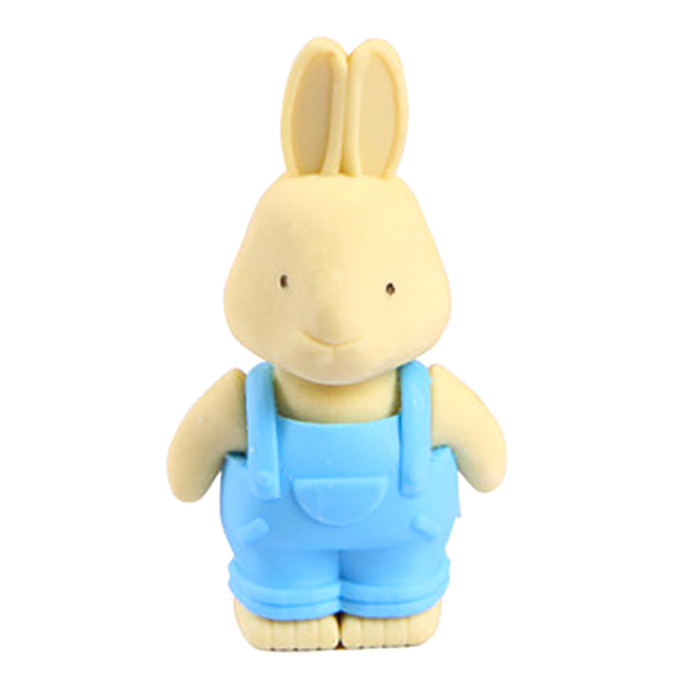 SCO 1pc New Cool Animal Stationery Lovely Suspenders Rabbit Style Pencil Rubber Eraser ( Random Color)