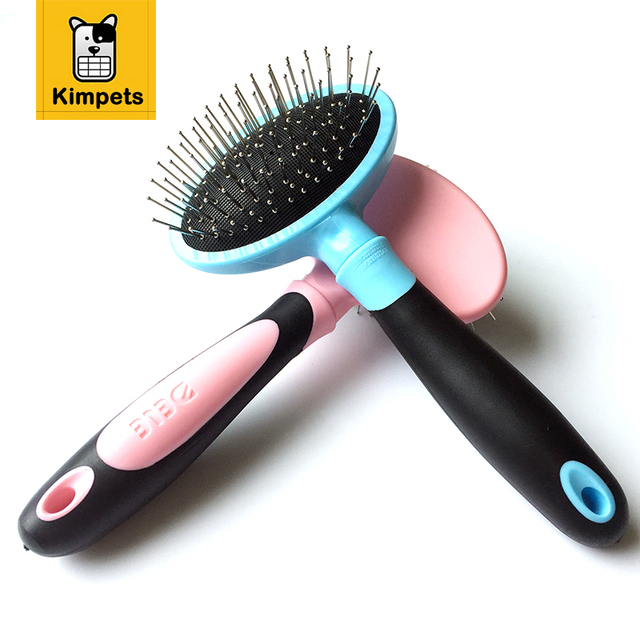 DELE Dog Grooming Brushes and Combs with Massage Head Metal Dog Comb Pet  Product Cat Combs Pet Supply Pink Blue 12e40e7ed