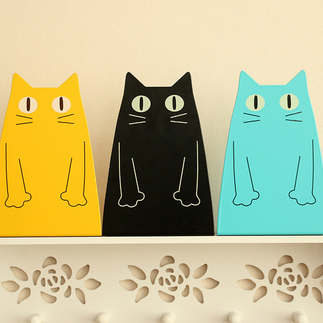 decorative office supplies. 2 pcspair book holder stand cute cat rabbit shape decorative bookends desk organizer stationery office supplies e