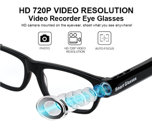 Image 2 - New Multifunction Bluetooth glasses Support to listen to music and call  720p video glasses Built in 32G storage LED light