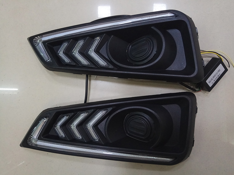 Car Flashing 2 Pcs for honda city 2015 2016 led drl daytime running light fog lamp