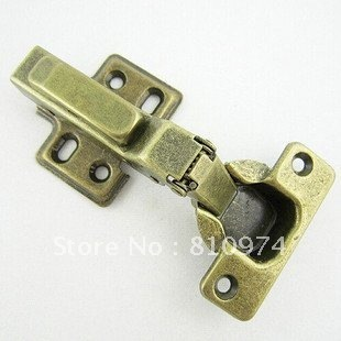 100  Pcs Self closing Cabinet  Hydraulic  Hingesbuffering  Hinge  Antique color Green bronze LQ08