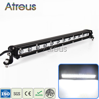 Atreus 1X 15Inch 36W Car Single Row LED Light Bar 12V Spot DRL For ATV 4X4 Truck 4WD Offroad Boat Trailer Fog Lights accessories