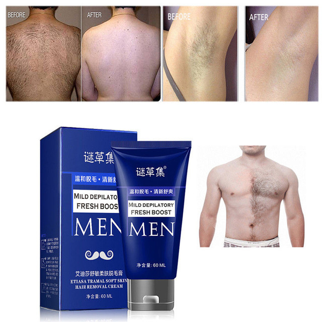 60 グラム有機脱毛クリーム天然植物 Depil 毛女性と男性のための除去クリーム脱毛脱毛器抽出物で