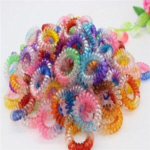 10 шт./лот, Женская эластичная лента для волос, милая цветная телефонная лента для волос, стильные кольца для волос, аксессуары