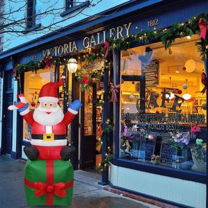 Image 2 - Nadmuchiwany święty mikołaj boże narodzenie na zewnątrz ozdoby świąteczne przyjęcie noworoczne sklep domowy Yard dekoracje ogrodowe ozdoby świąteczne