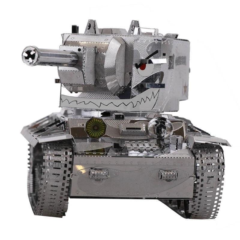 Russia KV2 Tank Fun 3d Metal Diy Miniature Model Kits Puzzle Toys Children Educational Boy Splicing Science Hobby Building