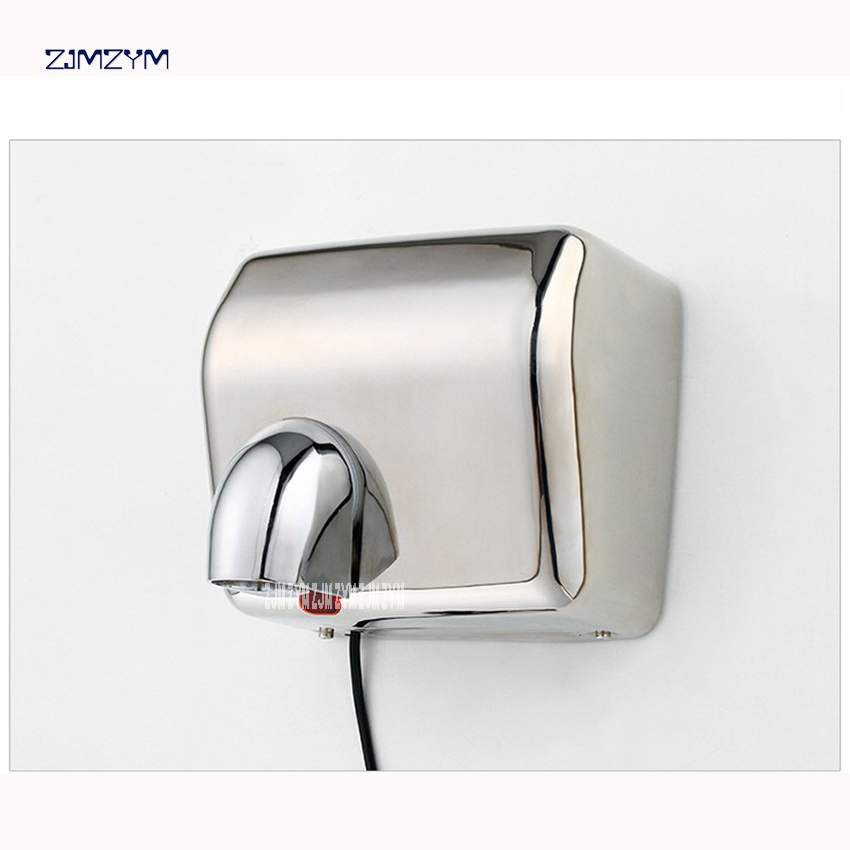 9019D Heavy Duty Commercial Warm Air Supply Stainless Steel World Dryer Hand Dryer In Restroom 2300W power,30m / s Wind speed modun manufacturer 2300w commercial wall mount high speed automatic hand dryer