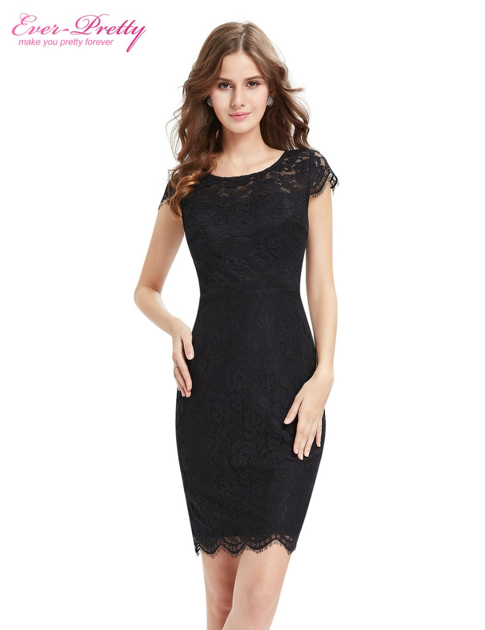 Ever Pretty Cocktail Dresses AP05394BK Women Beautiful Fashion Round ...