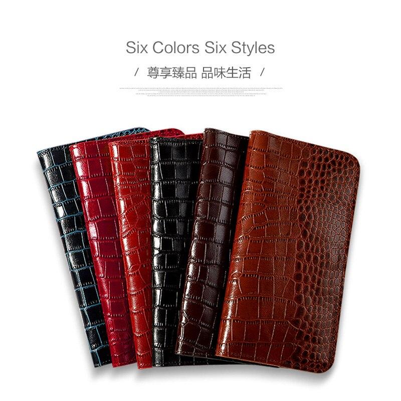 En Cuir véritable étui de téléphone pour xiaomi mi 4 5 6 mi X2 Cas Crocodile Texture Double poche Pour Rouge mi note 3 4 5 housse sac