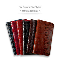 Genuine Leather phone case For Xiaomi Mi 4 5 6 MIX2 Cases Crocodile Texture Double pocket For Redmi note 3 4 5 Flip cover bag