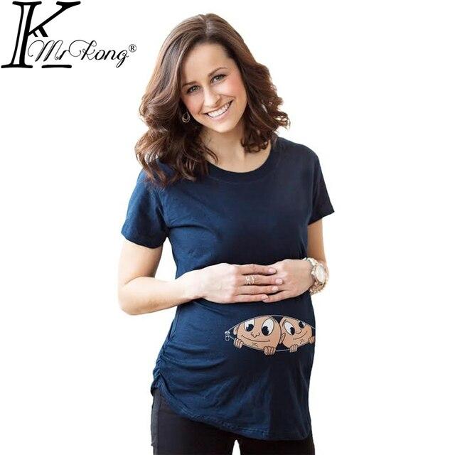 100% Хлопок Смешные Соизволил Pregenancy Рубашки для Кормящих Мам Одежда Для Беременных Футболка Grossesse Футболки для Беременных Женщин