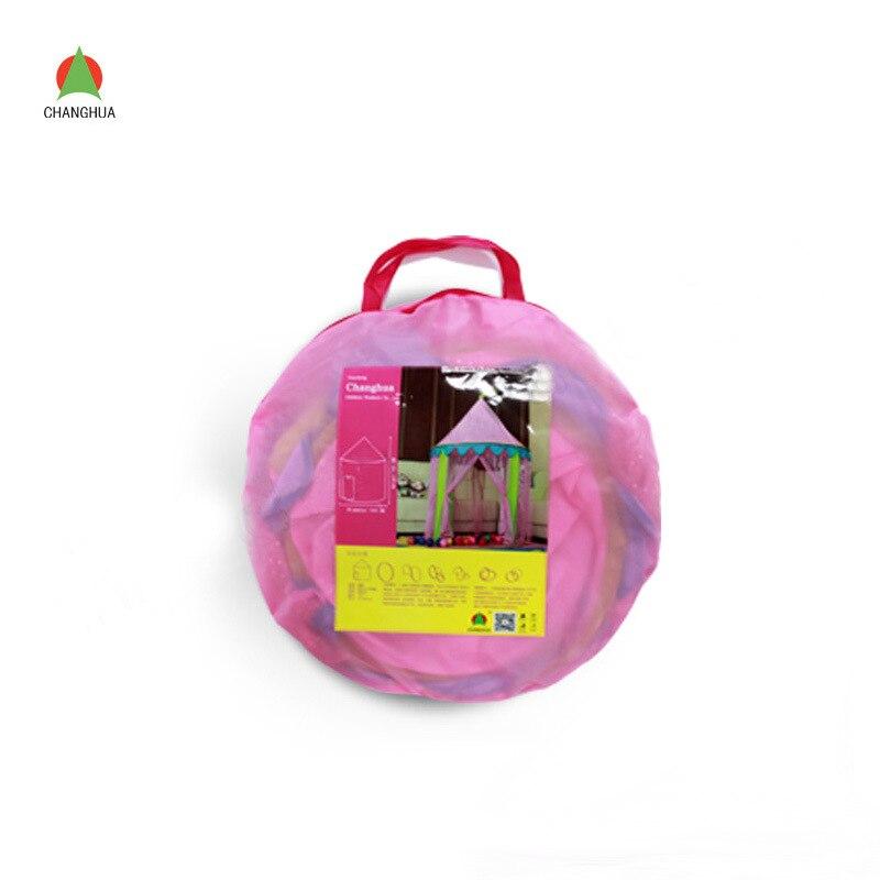 La Nouvelle Fille Enfants Jouet Tente Frappé Princesse Rose Paillettes intérieur et En Plein Air Jouer Tente Maison - 5