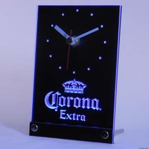 Tnc0092 Корона дополнительное пиво 3D LED настольные часы
