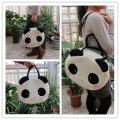 Super sweet 1pc 36cm cartoon plush cute happy panda middle handbags school shoulder bag children funny toy gift for girl